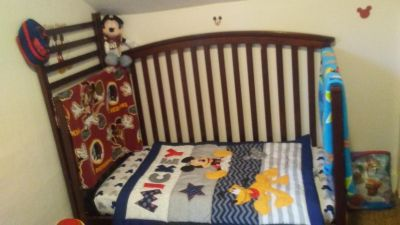 Delta crib and changing table