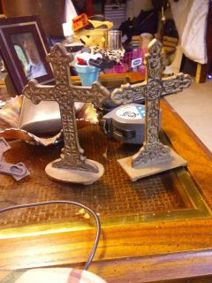 Double sided ornate standing crosses