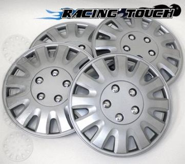 "Purchase Wheel Cover Replacement Hubcaps 15"" Inch Metallic Silver Hub Cap 4pcs Set #738 motorcycle in La Puente, California, US, for US $30.50"