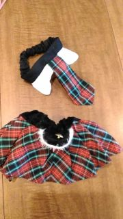 Small to medium size skirt and tie top for dog