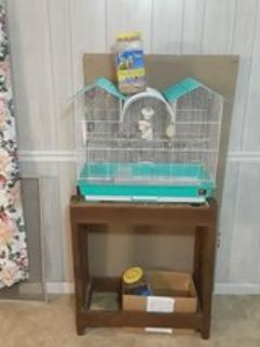 Bird Cage Stand Toys Feed Cups Perches 1/2 Jar Bird Seedd