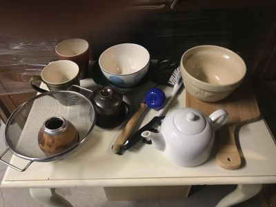 Tons of kitchen stuff, dishes etc. dek/syc delivery