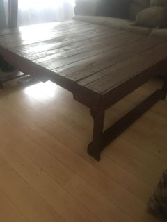 Rustic, sturdy, large pallet coffee table