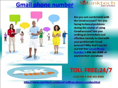 Gmail Phone Number A quick therapy 1-850-361-8504