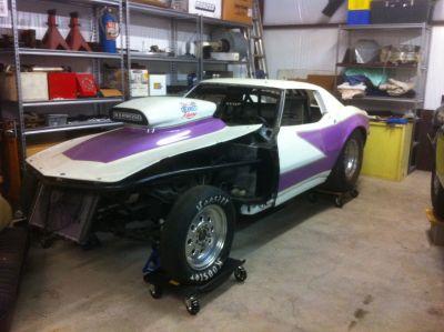 68 corvette back half project