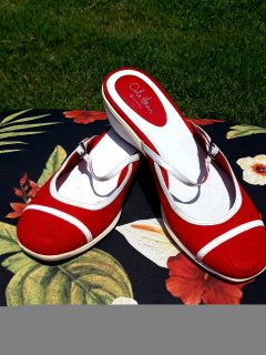 Cole Hahn Red & White Shoes