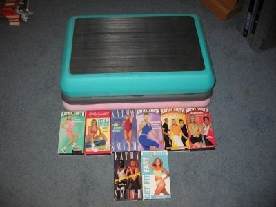 Jane Fonda Aerobic Workout Stepper Step Adjustable Risers Fitness Quest w/VHS tapes