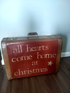 Vintage Suitcase Christmas Decor