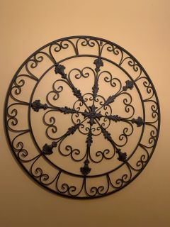 Large Pier One wrought iron wall decor