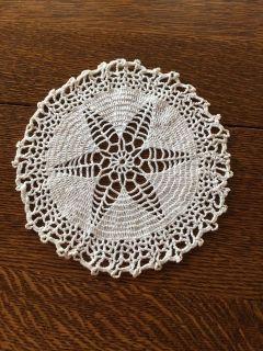 7.5 Vintage Crocheted Venetian Flower Doily