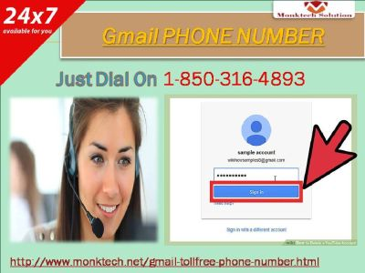 Would I be able to take Gmail phone number from the specialists 1-850-316-4893 toll free?