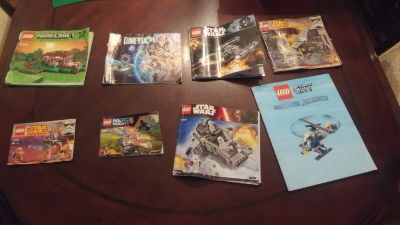 Lego instruction books