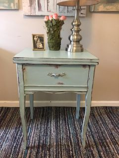 serenity blue night stand / table