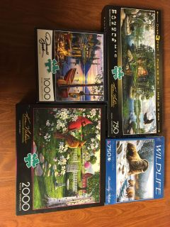 lot of various puzzles