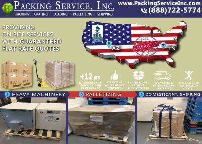 Packing Service, Inc. Flat Rate Shipping Quotes and Palletizing Furniture - Flagstaff, Arizona