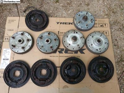 Full set of porsche 356 b brakes with spare front