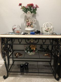 marble side/entry table