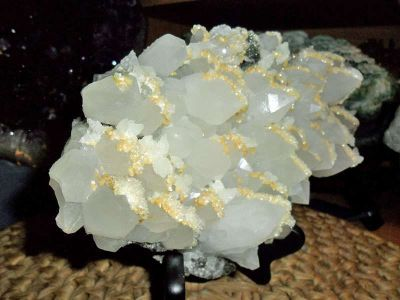 Exceptionally Gorgeous and Beautiful White Quartz Crystal Points and BariteCryst