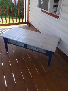 Upcycled Coffee Table With Two Drawers