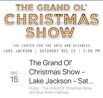 Blue Water Highway Christmas Show 12/15