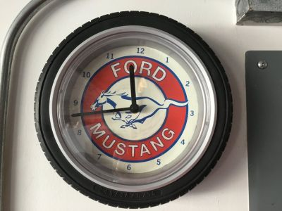 Ford Mustang Tire Clock