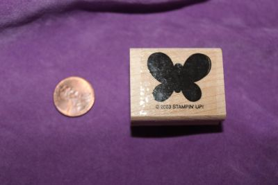 Stampin' Up! Wooden Rubber Stamp: Butterfly Shadow