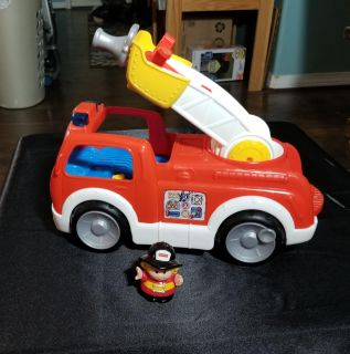 Little People Firetruck with Firefighter