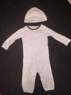 Carters convertible sleeper/onesie sack with hat 9 months