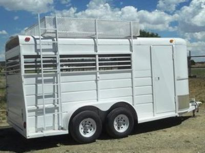 1992 WW Stock Combo 2 horse trailer