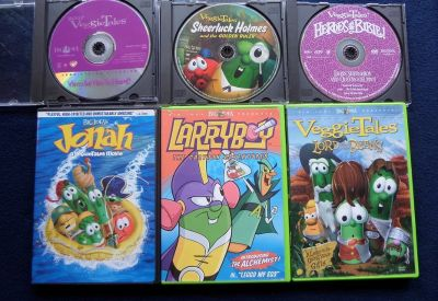 Set of 6 Veggie Tales DVD's