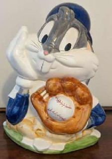Vintage Bugs Bunny Baseball Warner Bros Cookie Jar 1993