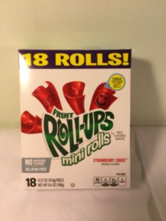 Betty Crocker strawberry crapes fruit roll ups 18 count, expiration April 2020
