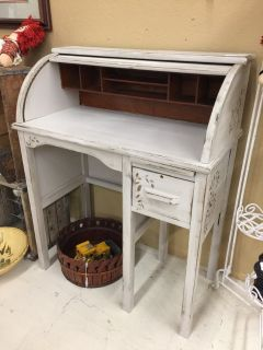Small Roll Top Desk Shabby Chic