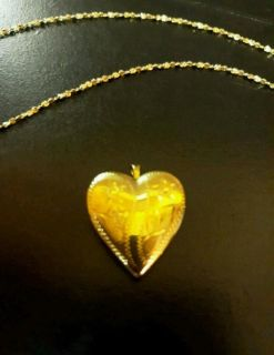 14kt gold locket and chain