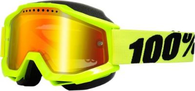 Find 100% Accuri Snow Goggles Yellow w/Mirror Red Lens 50213-004-02 motorcycle in Lee's Summit, Missouri, United States, for US $64.95