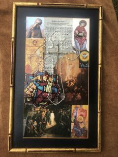 Hand Made One of a kind mixed media Vintage Jewelry Art - Nailed to the cross