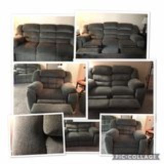 Double Reclining Couch, Loveseat, Chair