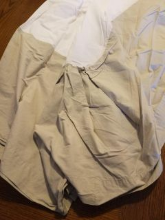 Full Size Bed Ruffle Skirt -linen colored