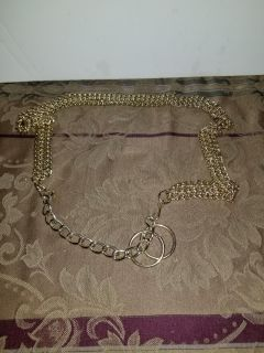 38inch gold time chain belt