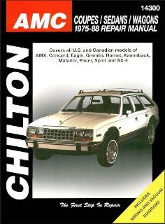 Purchase American Motors (AMC) Coupes, Sedans, Wagons Repair Manual 1975-1988 motorcycle in Garland, Texas, US, for US $23.95