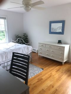 Furnished bedroom and private bathroom