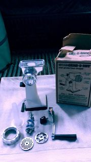 Meat grinder and food chopper