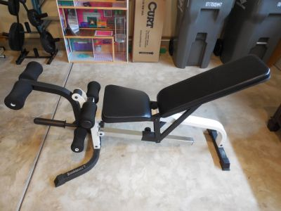 """NEW PRICE!!!!!"""" Power House"""" Weight and Leg Extension Adjustable Bench"""