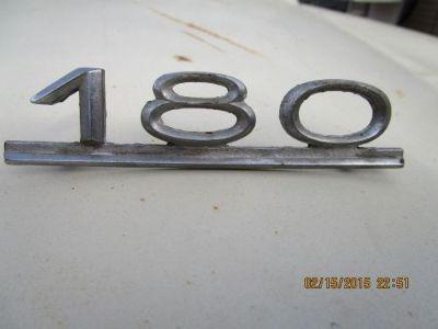 Find Mercedes Benz 180 emblem badge trunk antique RARE ponton 1953-62 w120 w121 motorcycle in South Jordan, Utah, United States, for US $55.00