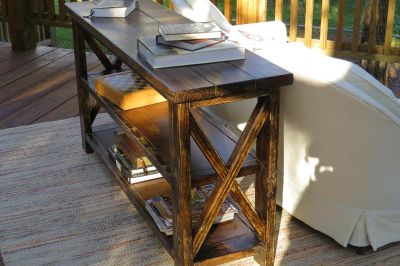 Rustic Sofa/Entry table