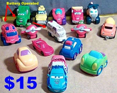 15 Different Disney, Tonka, & Bright Kingdom Vehicles, All Great Condition. See Details Below