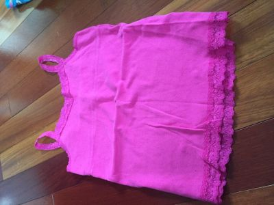 Girls lace trimmed tanks