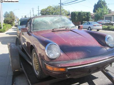 1983 Porsche 911-SC Cabriolet BODY ONLY PROJECT