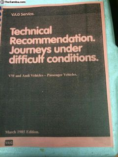 Technical recommendation service manual