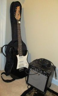 Ibanez Guitar with Case & Amplifier